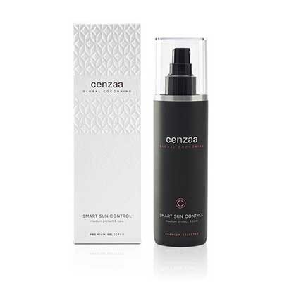 Cenzaa Global Cocooning Smart Sun Control Flacon 200ml inclusief luxe verpakking.Deze heerlijk geurende zonneolie met medium zonbescherming zorgt voor een prachtige glans en gezonde zongebronste huid.